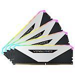 Corsair Vengeance RGB RT 64 Go (4 x 16 Go) DDR4 3200 MHz CL16 - Blanc